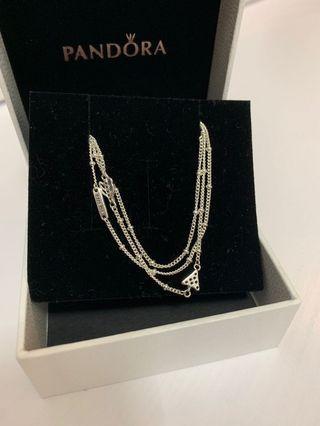Pandora 925 necklace sparkling arrow