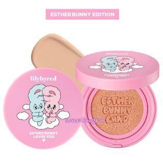 韓國 Korea Lilybyred x Esther Bunny Cotton Blur Cushion 保濕遮瑕氣墊粉底 SPF50+ PA+++