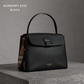 Burberry Grainy Medium Bag Black