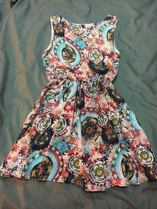 復古圖騰 洋裝 #半價衣服拍賣會