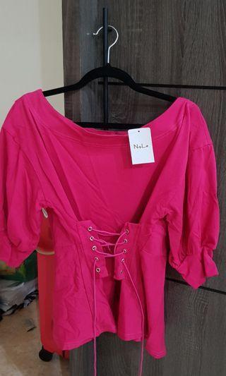 [NEW] Nyla Pink Top #dibuangsayang