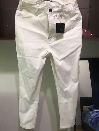 🚚 ZIP Chino九分褲 白色