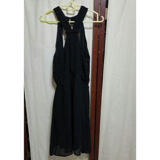 Black Halterneck Dress #EndgameYourExcess