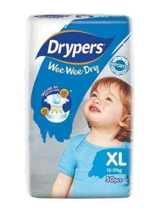 🚚 **BRAND NEW UNOPENED** Drypers wee wee dry diapers XL size 50 pcs