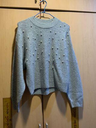 珍珠毛衣 Hm