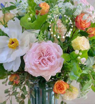 Wedding fresh flower table centerpieces