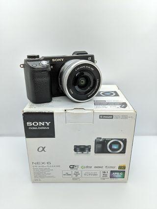 Sony NEX-6 with SELP1650 Kit Lens boxset