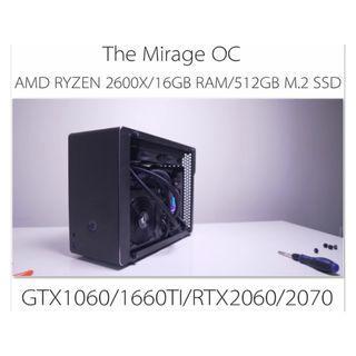 AMD RYZEN5 2600X  LIQUID COOLING SMALL FORM FACTOR OC GAMING CUSTOM DESKTOP PC WITH GTX1060/1660TI/RTX2060/2070(BUILD TO ORDER)