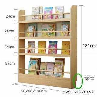 *preorder* Wooden wall bookshelf for kids (80x121cm)