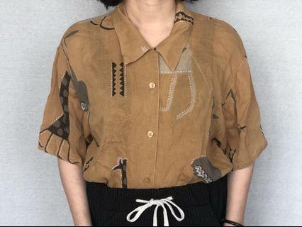 🚚 棉麻復古襯衫