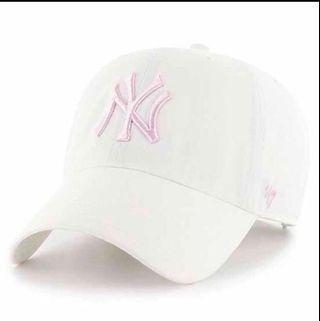 美國帶回💜洋基帽 白粉 老帽