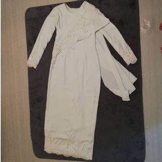 Baju Tunang / Nikah (Pearl White)