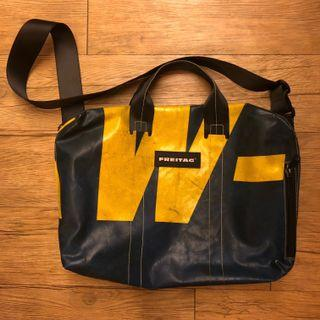 🚚 Used Freitag 15'' laptop bag (blue and yellow)