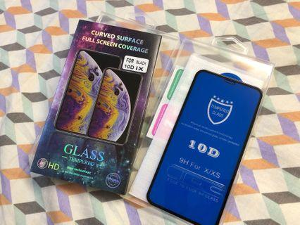 iPhone X/XS 螢幕保護貼 10D mon貼 黑色全屏貼保護貼 手機貼 玻璃膜 玻璃貼