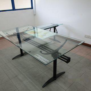 [🔥SALE] Glass Top L Shape Table Desk