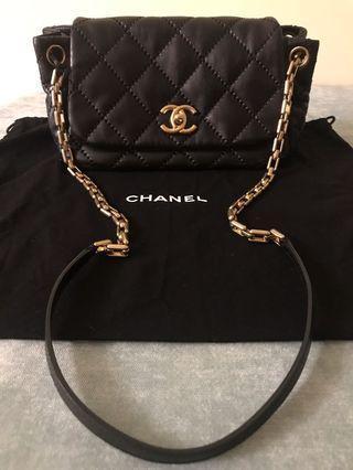 💯真品Chanel Shoulder Bag黑色凌格