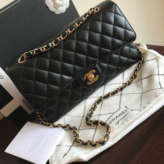 <SOLD> BNIB+FullSet* Chanel Medium Caviar GHW classic double flap bag
