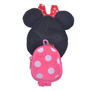 現貨 Disney Japan 日本迪士尼 Minnie Mouse 米妮 背囊背包 uniBEARsity匙扣公仔 nuiMOs 可通用