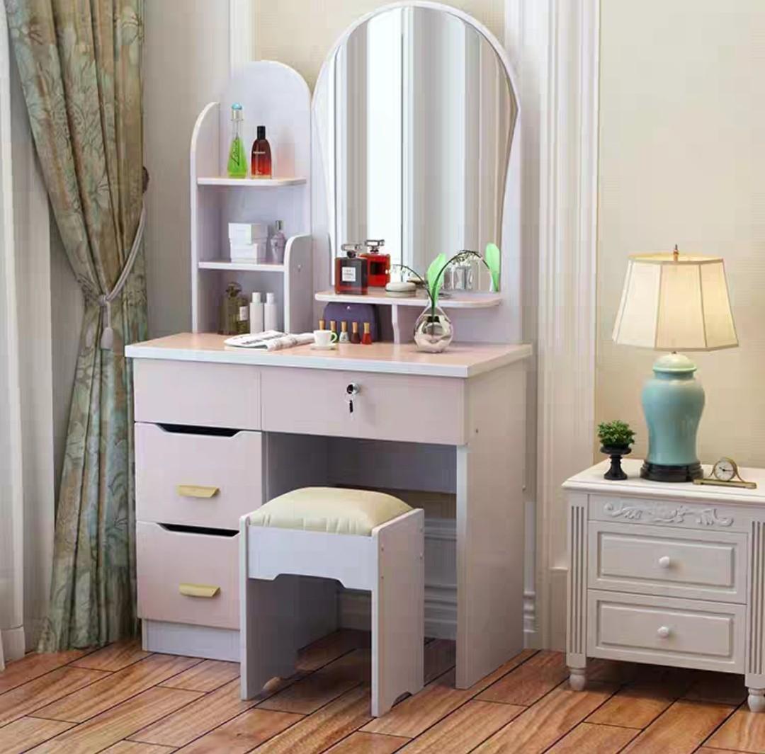 (訂貨價:$538)簡約化妝枱+凳 (80cm寬)梳妝台 梳妝枱 化妝鏡 Dressing Table Make-Up