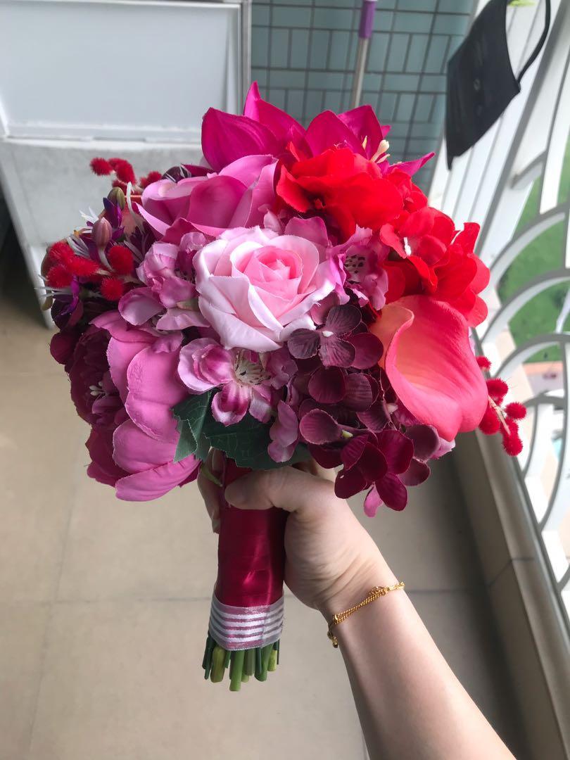 絲花花球連新郎襟花