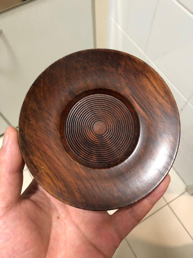日本回流木製茶托壺承