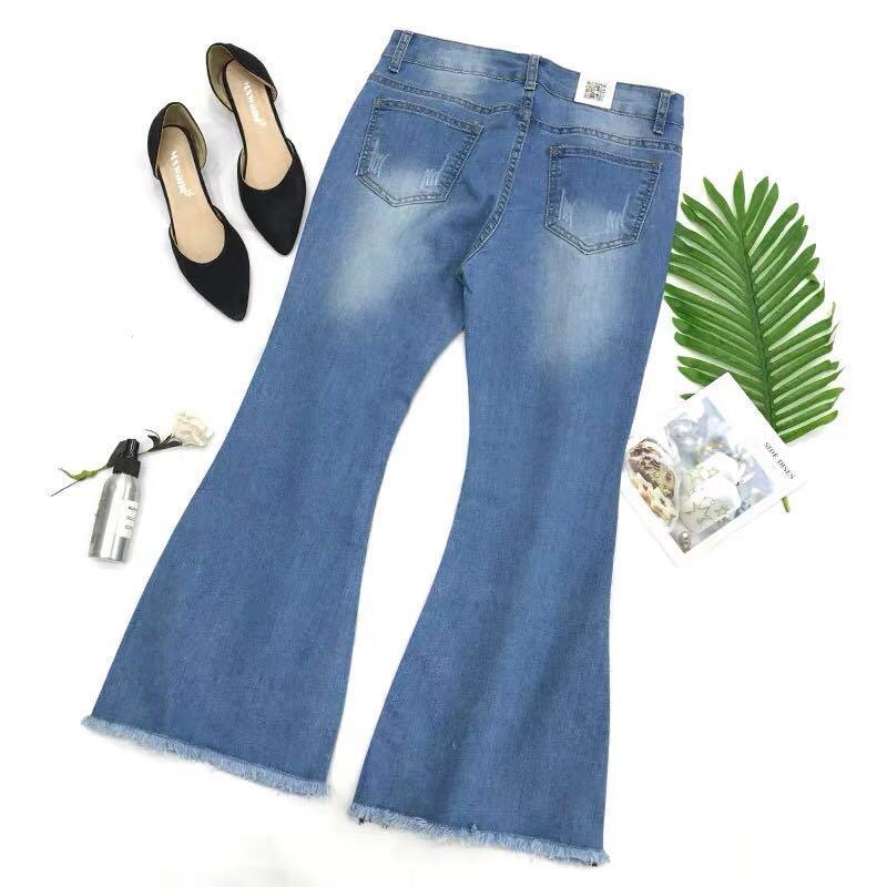 💯% 🆕 全新顯瘦喇叭牛仔褲