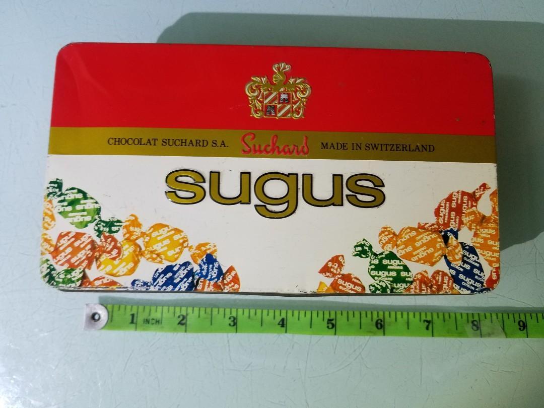 殘舊瑞士糖盒 #小型盒 #比較少見 #留意尺吋 老香港懷舊鐵盒 朱古力盒