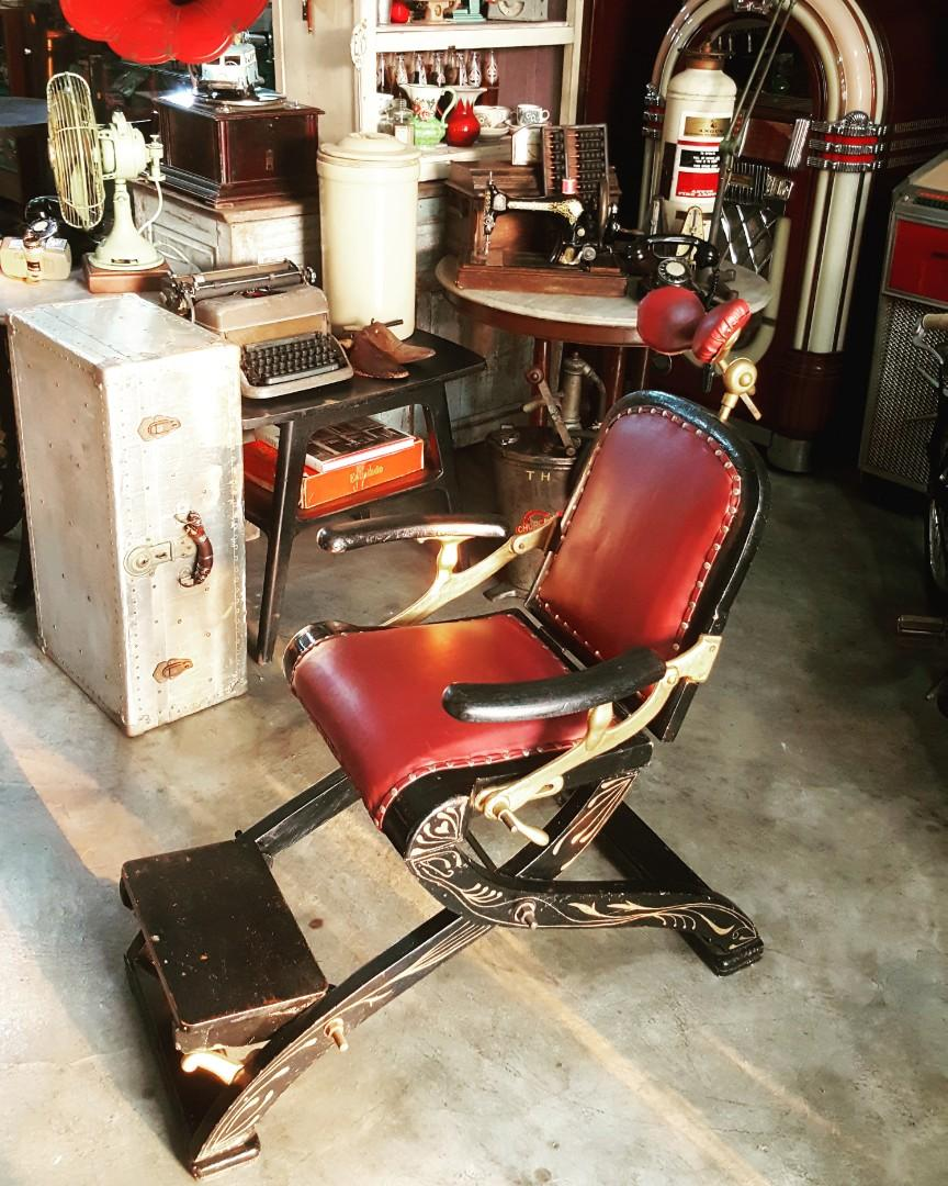 Antique Barber / Optical Chair
