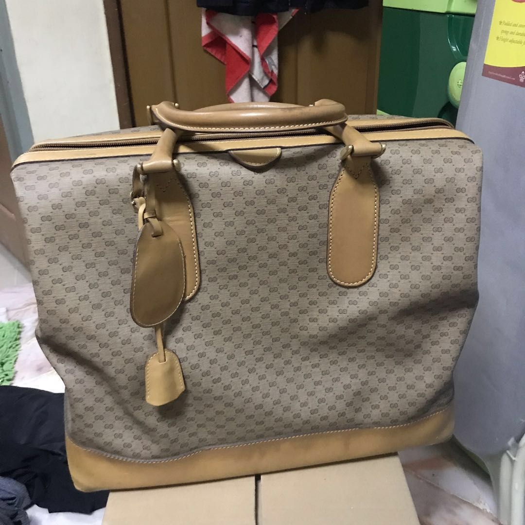 c8b1432a8b3a Authentic Gucci Micro Monogram Weekender Boston Travel Bag, Luxury ...