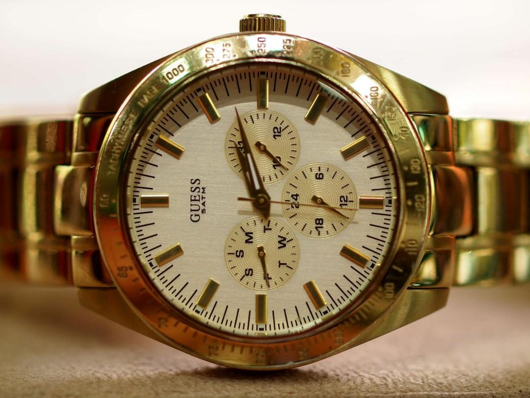 Authentic Guess Steel Watch - Gold 100% Original Good Quality PRODUCT