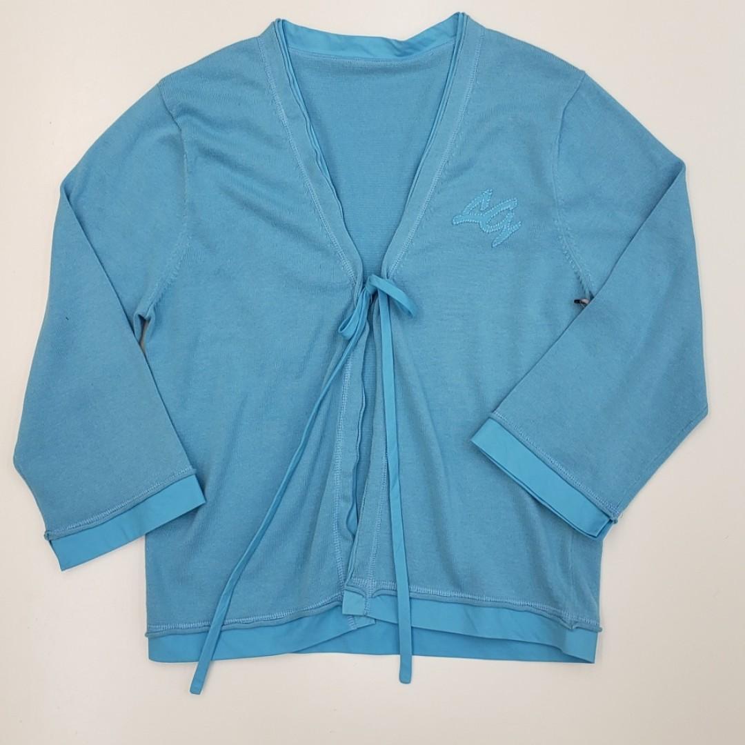 Baby Blue Wrap Cardigan