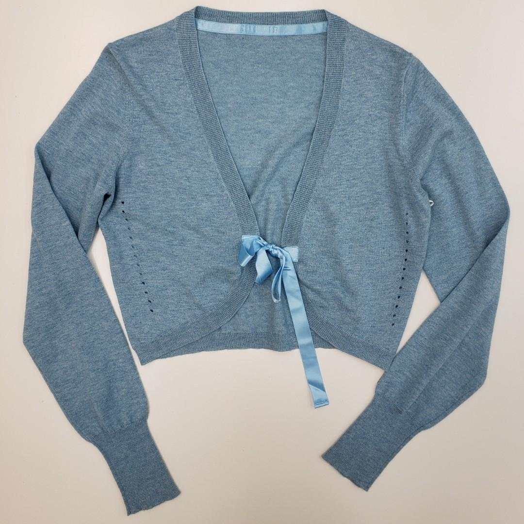 Baby Blue Wrap Cardigan