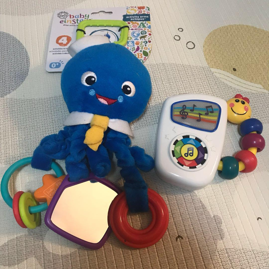 Baby Einstein Activity Arms Toy, Octopus & Take Along Tunes