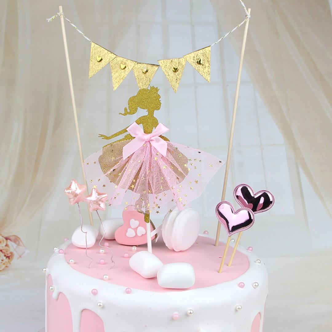 Peachy Ballerina Cake Topper Kids Birthday Cake Toppers Cake Decoration Birthday Cards Printable Giouspongecafe Filternl