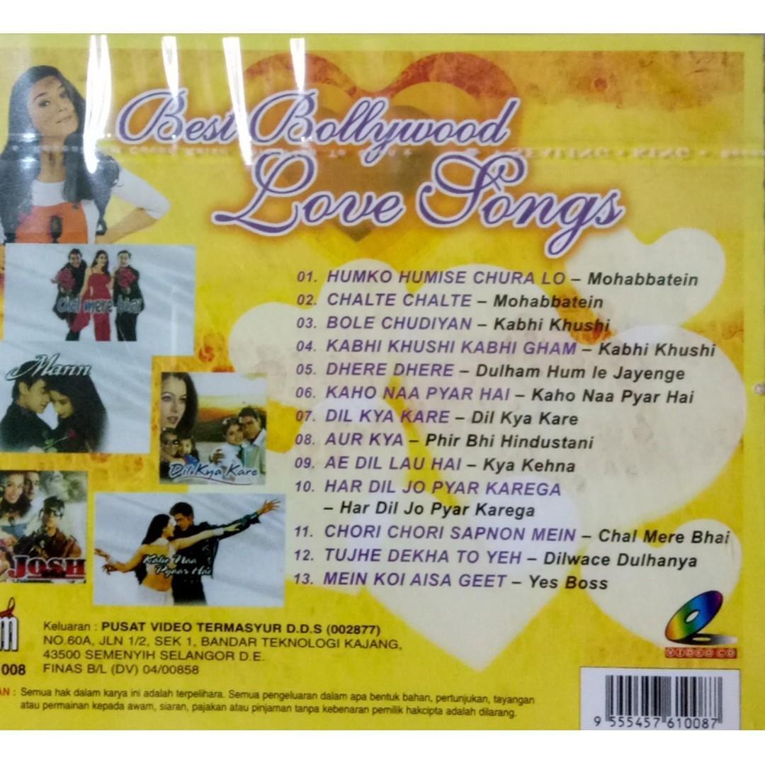 Best Bollywood Love Songs Mohabbatein Kabhi Khushi MTV VCD