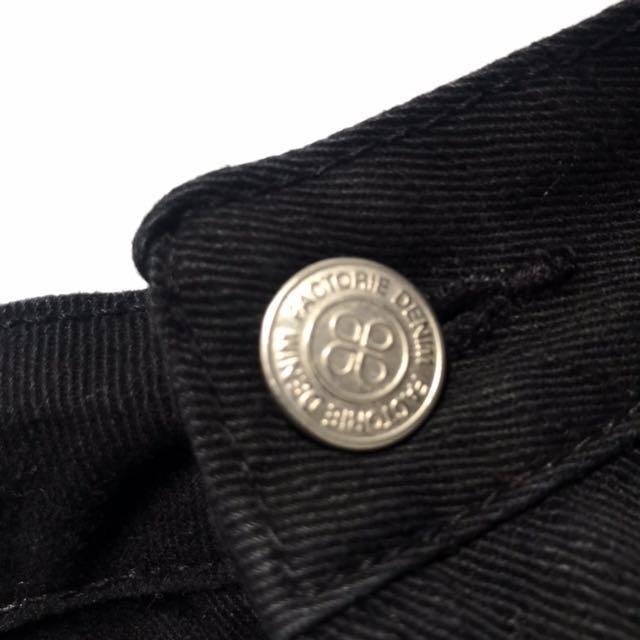 Black denim shorts - size 12