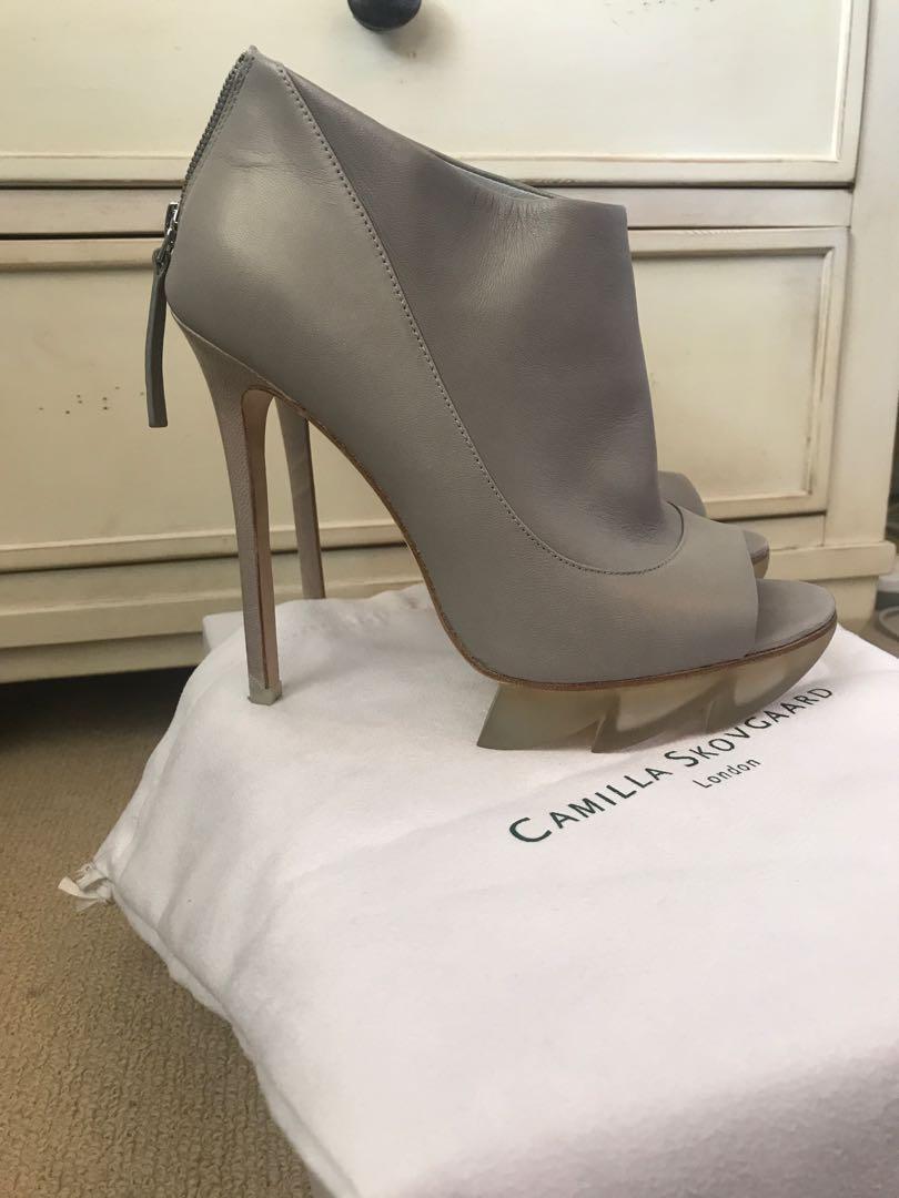 Camilla Skovgaard - size 8 women's open toe shoe boot w/ saw sole
