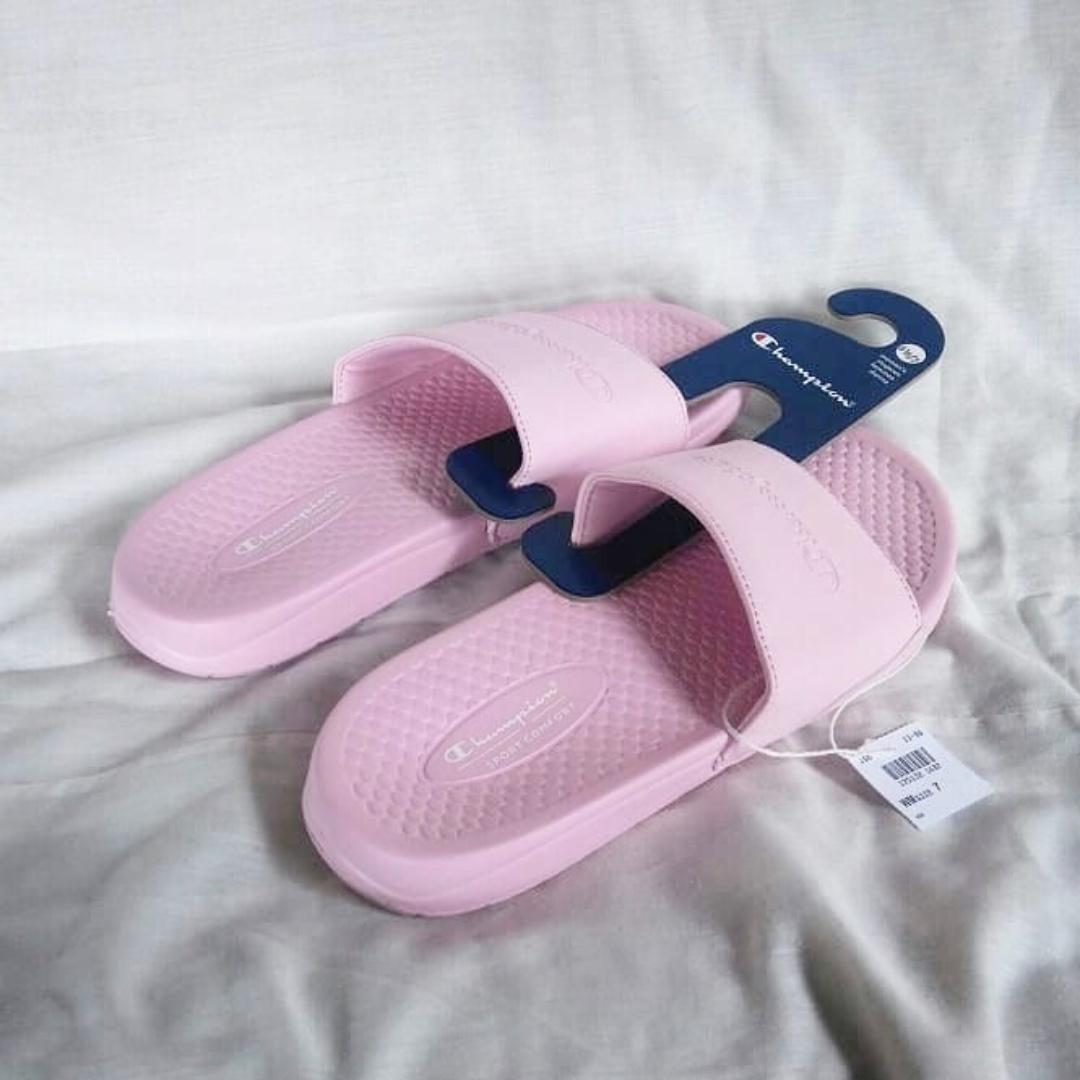 """Champion Slide """"Pink"""" / Sandal Champion Pink Muda"""