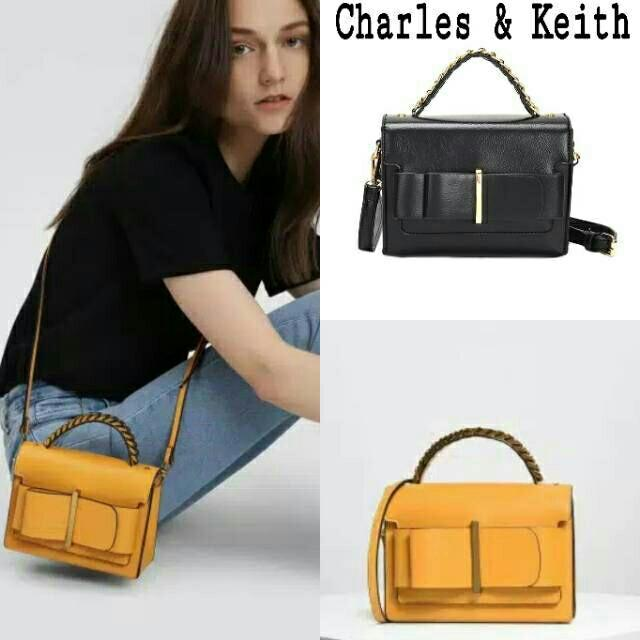 Charles & Keith Bag bow detail original