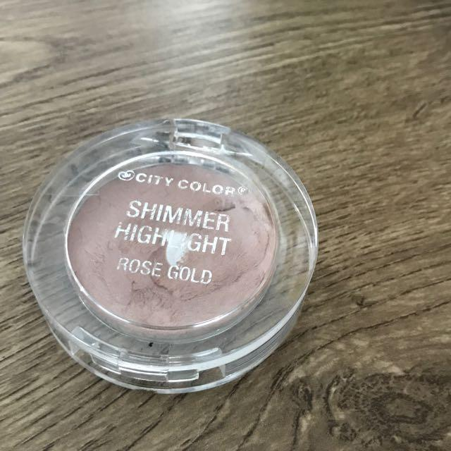 City color - shimmer highlight ROSE GOLD