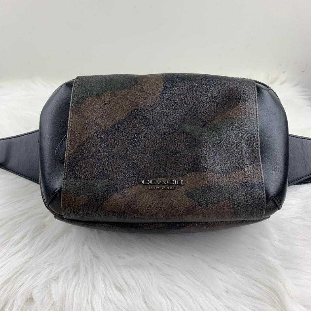 COACH GRAHAM UTILITY PACK IN SIGNATURE CANVAS WITH CAMO PRINT (COACH F40650) GREEN MULTI/BLACK ANTIQUE NICKEL