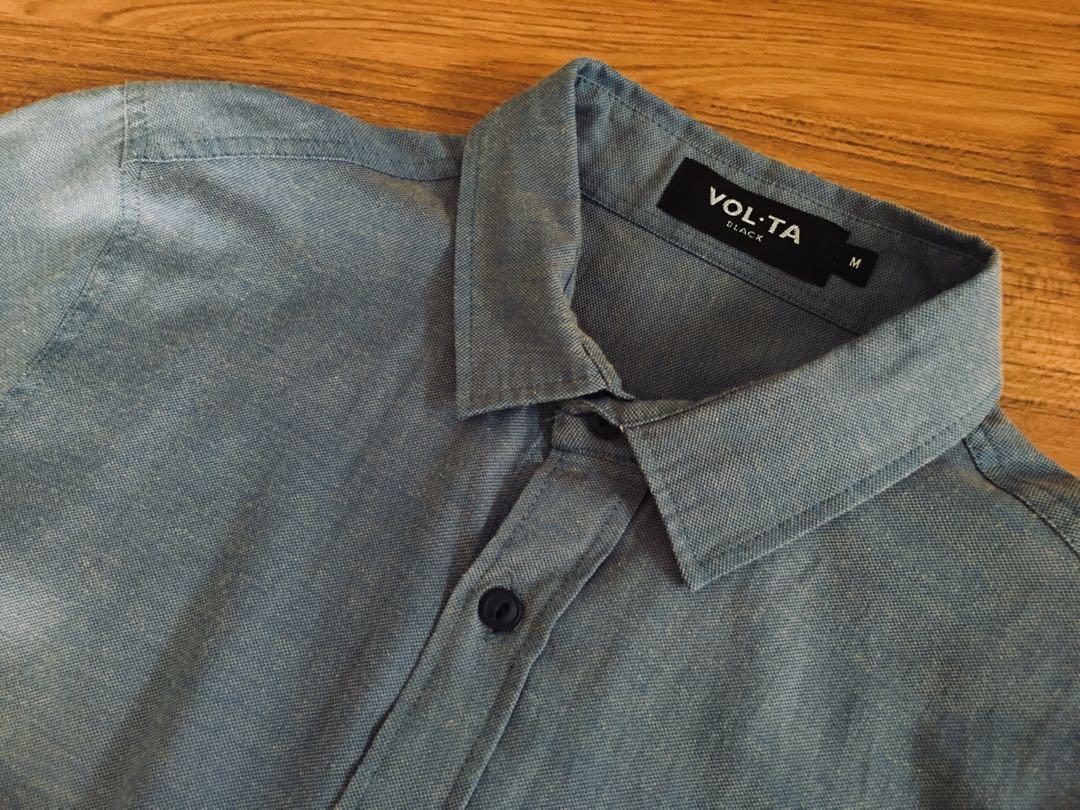 Contrast Short Sleeve Shirt #MRTTampines