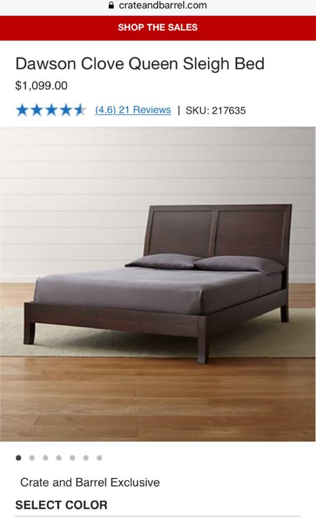 Barrel Queen Bed Frame And Mattress, Sleigh Bed Queen Size Mattress