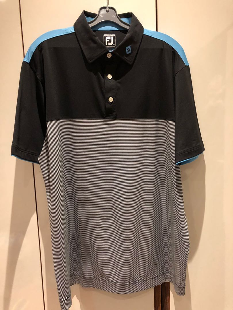 bb1753807ea6 Footjoy black polo T-shirt, Men's Fashion, Clothes, Tops on Carousell