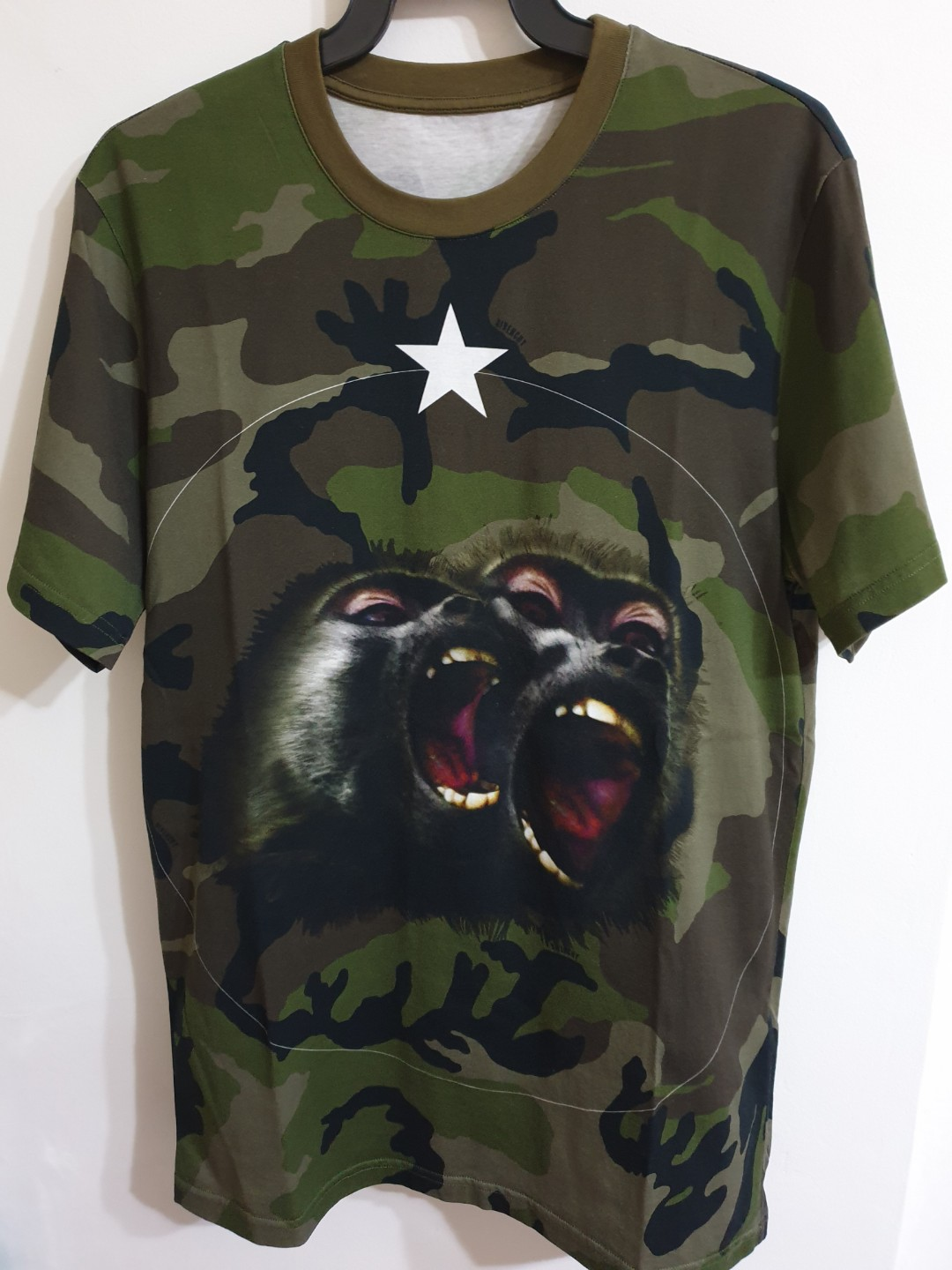 97dfbeb1a Givenchy Camo Monkey Brothers Tee, Men's Fashion, Clothes, Tops on ...