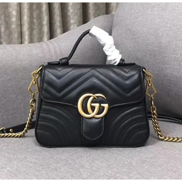 d41094900c36 Gucci Marmont mini top handle bag, Luxury, Bags & Wallets, Handbags ...