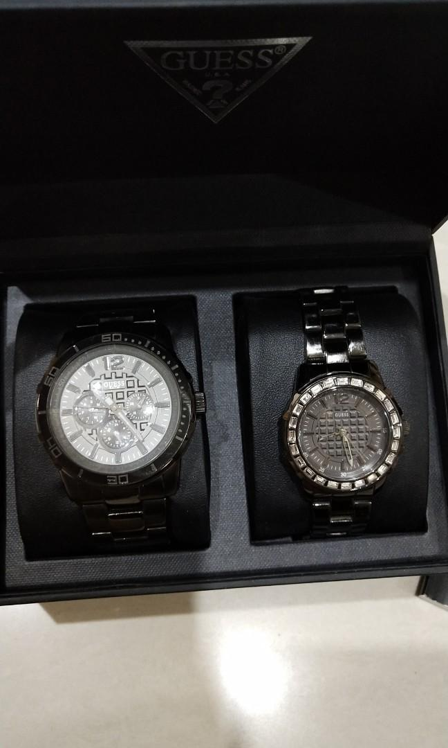 Guess Watch Couple Black Stainless