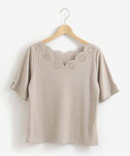 ✨HIT!搶!靚款~日本majestic legon lace波浪領短袖衫上衣 tee