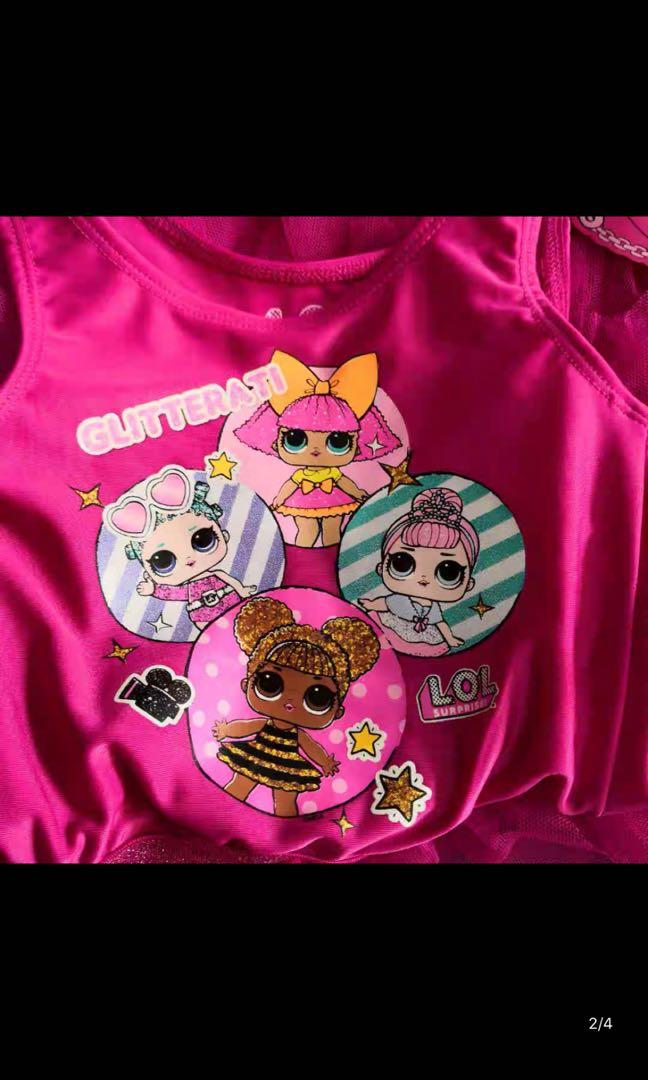 Instock 3 sets only .. authentic LOL party/ birthday dress brand new size for 7-8yrs old only
