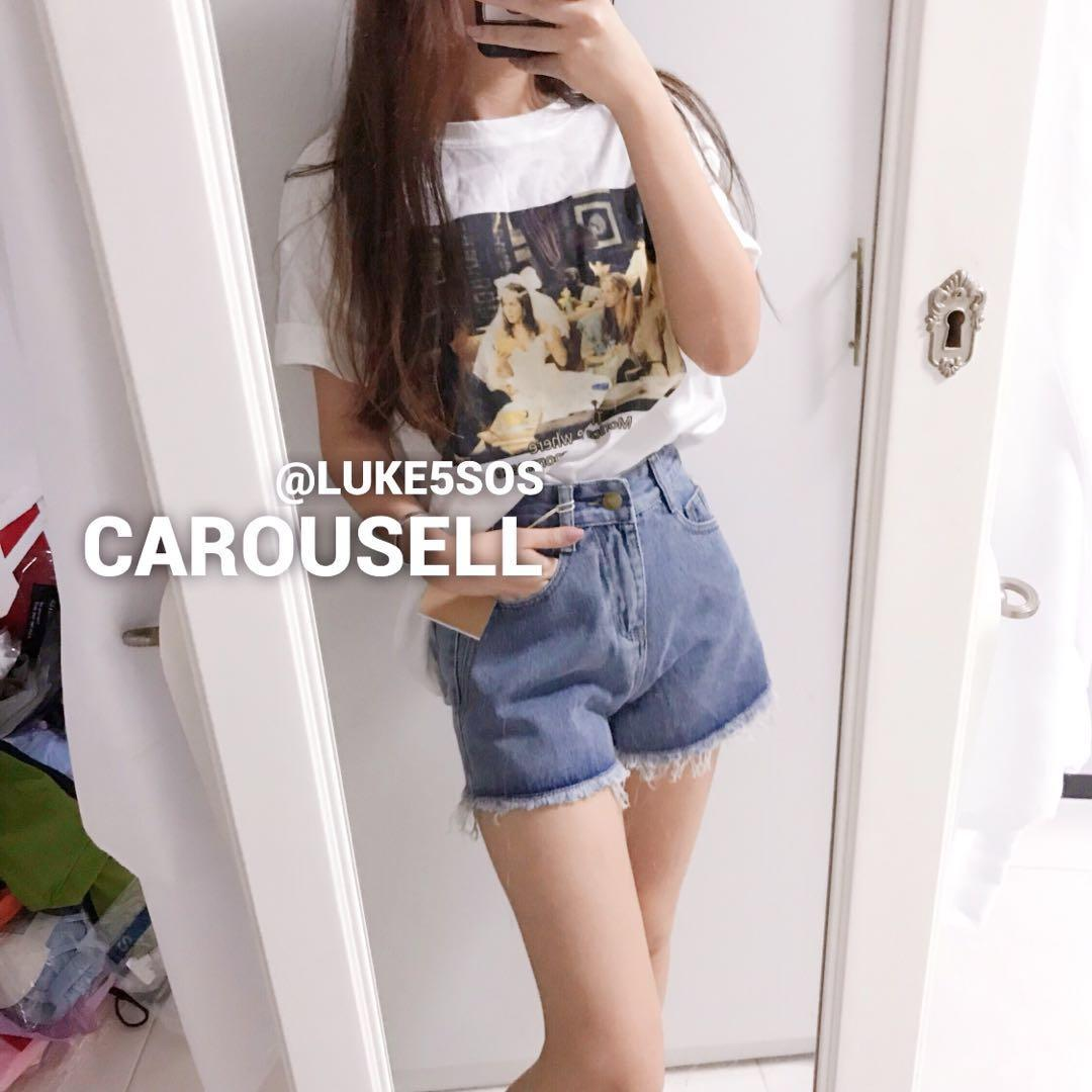 INSTOCKS High waisted denim shorts